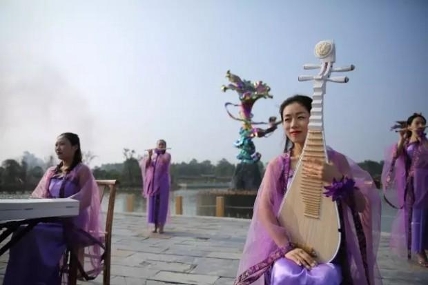 紫薇文化博览园开园迎客!现场很热闹