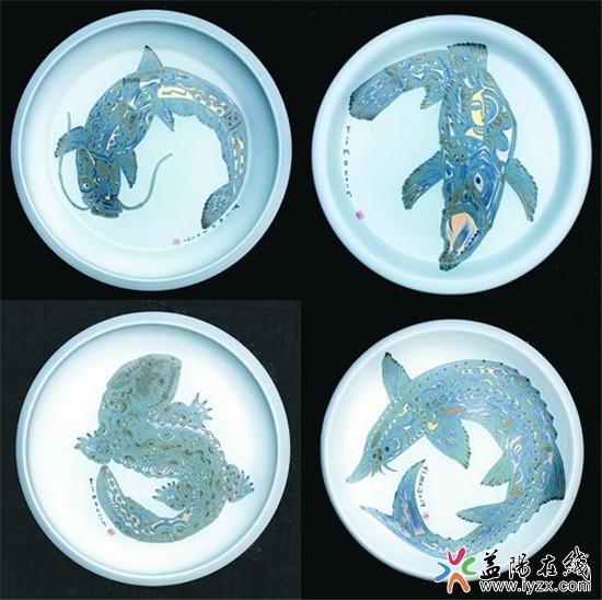 《楚风汉韵》以远古生物活化石系列鱼类为符号,手拉圆盘,造型现代