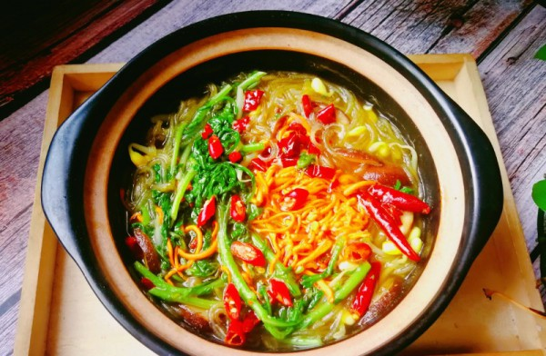 砂锅炖素菜 独家