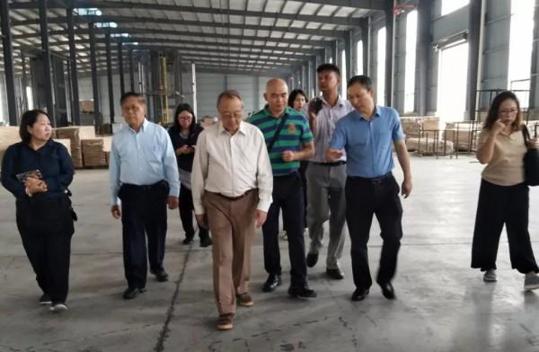 泰国客人考察桃江竹产业